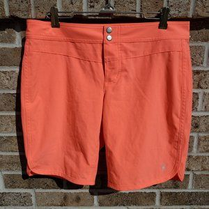 Carve Designs Shorts 6 Neon Orange Low Rise Snap